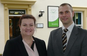 Carolyn Greenhalgh and Pete Moran support welfare benefits
