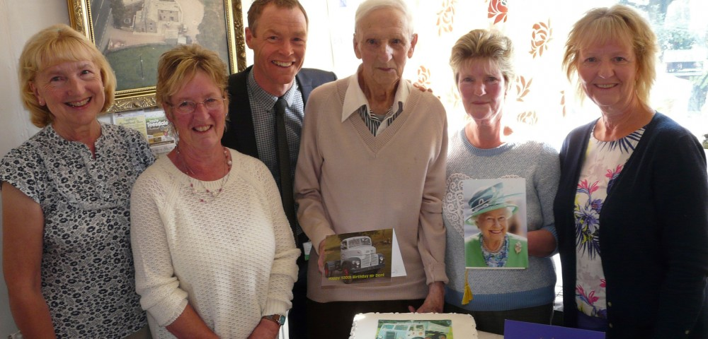 Mr Dent celebrates his 100th birthday
