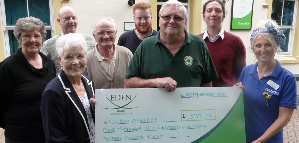 Fun Day charity cheque presentation