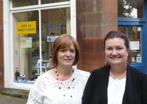 Kath hetherington and carolyn greenhalgh at eca