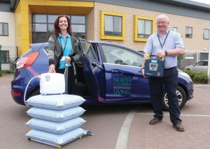 Tracey Cowell and Dennis Milner from NCIL team with response car (small)
