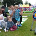 tony davies with ella Hodgson Davies  3 and riley hodgson  4 and Ben Hall and son Kai 5